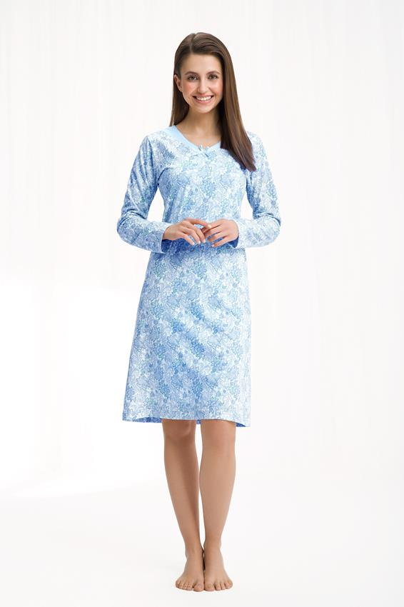 koszula damska luna kod 258 niebieski